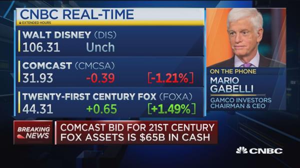 Billionaire media investor on a Comcast-Disney bidding war for Fox assets