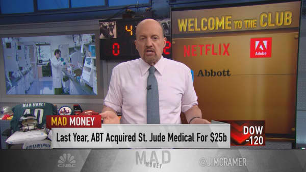 Cramer continues review of $100 billion club with 2018's winners