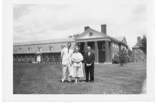 Ken Langone with his mom and dad when he graduated from Bucknell in June, 1957.