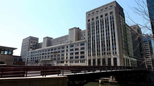 Old Post Office Building in Chicago, Illinois.