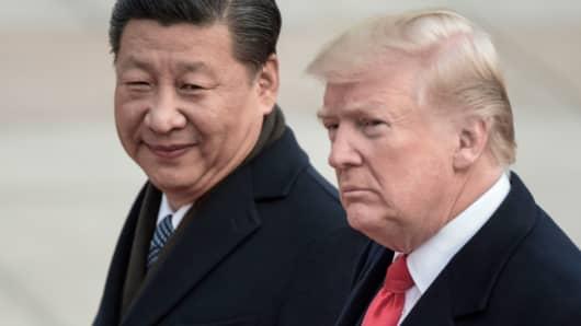 China's President Xi Jinping and U.S. President Donald Trump
