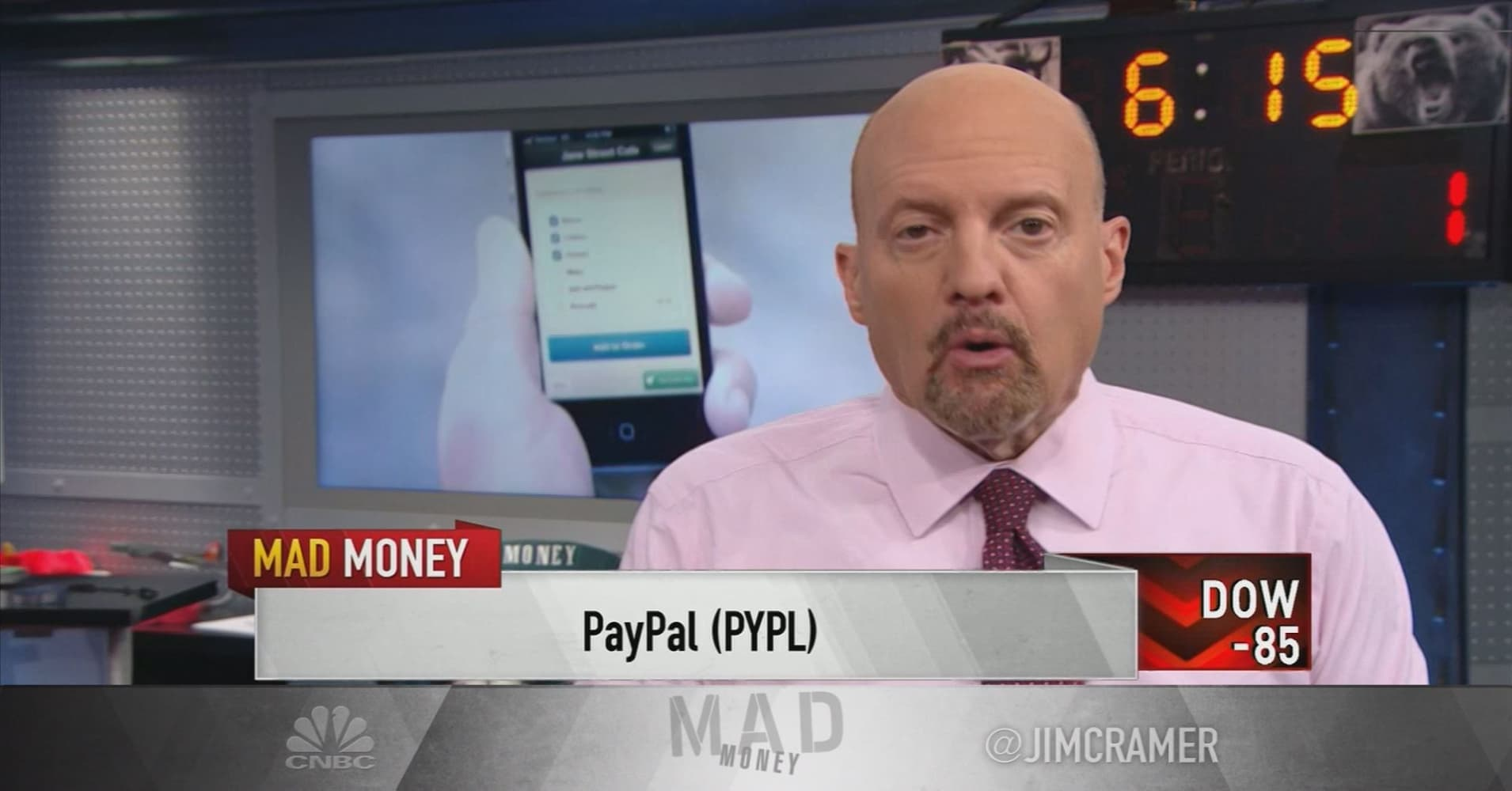 Cramer: Bitcoin and PayPal are putting pressure on bank stocks