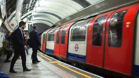 Daily life is seen on the London Underground stations in London on September 29, 2017.