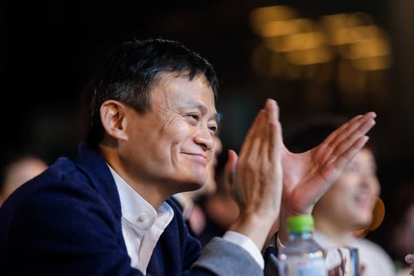 Founder and Chairman of Alibaba Group Jack Ma attends the 'Ma Yun Rural Teachers Prize' awards show on January 21, 2018 in Sanya, Hainan province, China.
