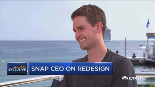 Snap CEO Evan Spiegel on update backlash