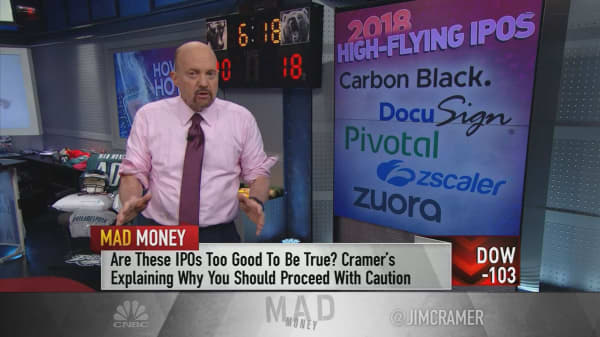 Cramer's warning on recent tech IPOs