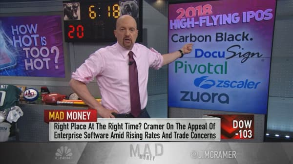 Cramer's warning on recent tech IPOs: Be careful with their sky-high valuations