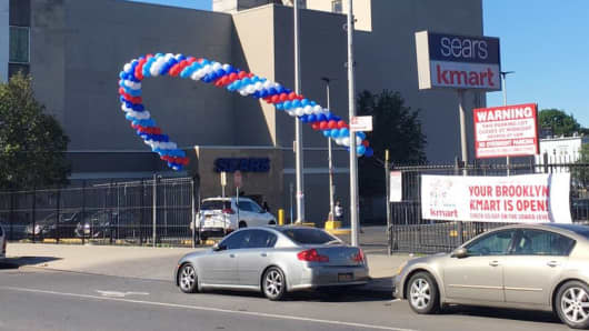 The grand opening of the Sears-Kmart store in Brooklyn, New York.