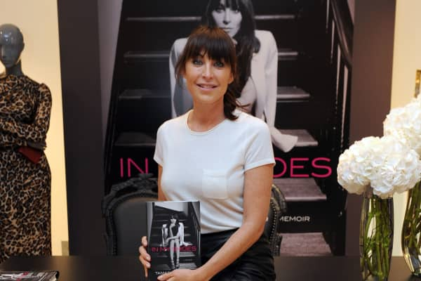 Tamara Mellon poses at the launch of her new book 'In My Shoes' at Harrods in Knightsbridge, London