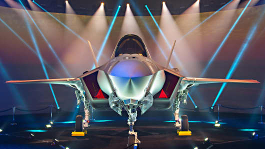 Lockheed Martin's F-35A Lightning II fighter jet for the Israeli Air Force.