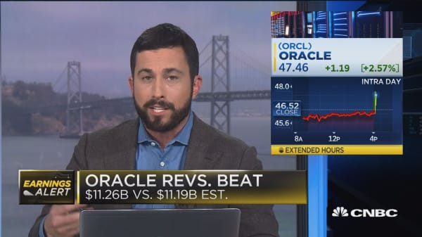 Oracle fourth quarter earnings beat the street