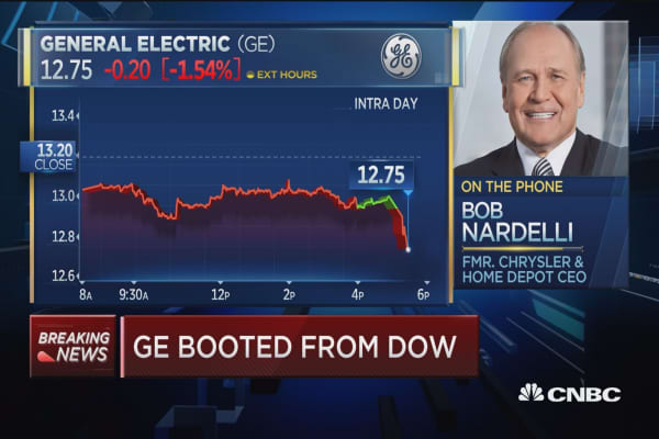 Bob Nardelli on General Electric leaving the Dow