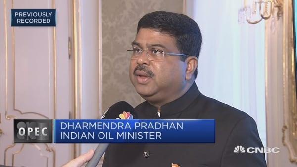 Indian oil minister: India's appetite for oil is growing