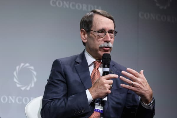 President and Chief Executive Officer, St. Jude Children's Research Hospital, Dr. James R. Downing speaks at the 2016 Concordia Summit September 19, 2016 in New York City.