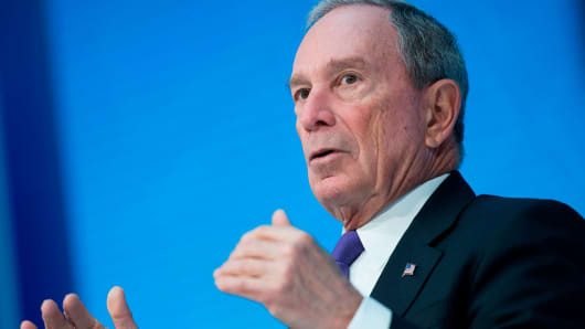Former New York City Mayor and founder of Bloomberg Philanthropies Mike Bloomberg