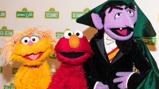Zoe, Elmo and The Count at the Sesame Workshop's 16th Annual Benefit Gala at Cipriani in New York City in May.