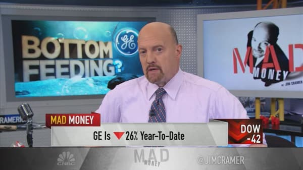 Cramer: It's hard to believe this is bottom for shares of General Electric