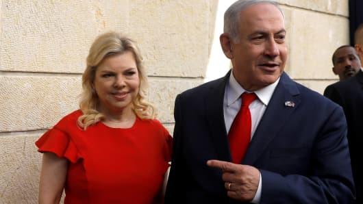 Israeli Prime Minister Benjamin Netanyahu and his wife Sara Netanyahu.