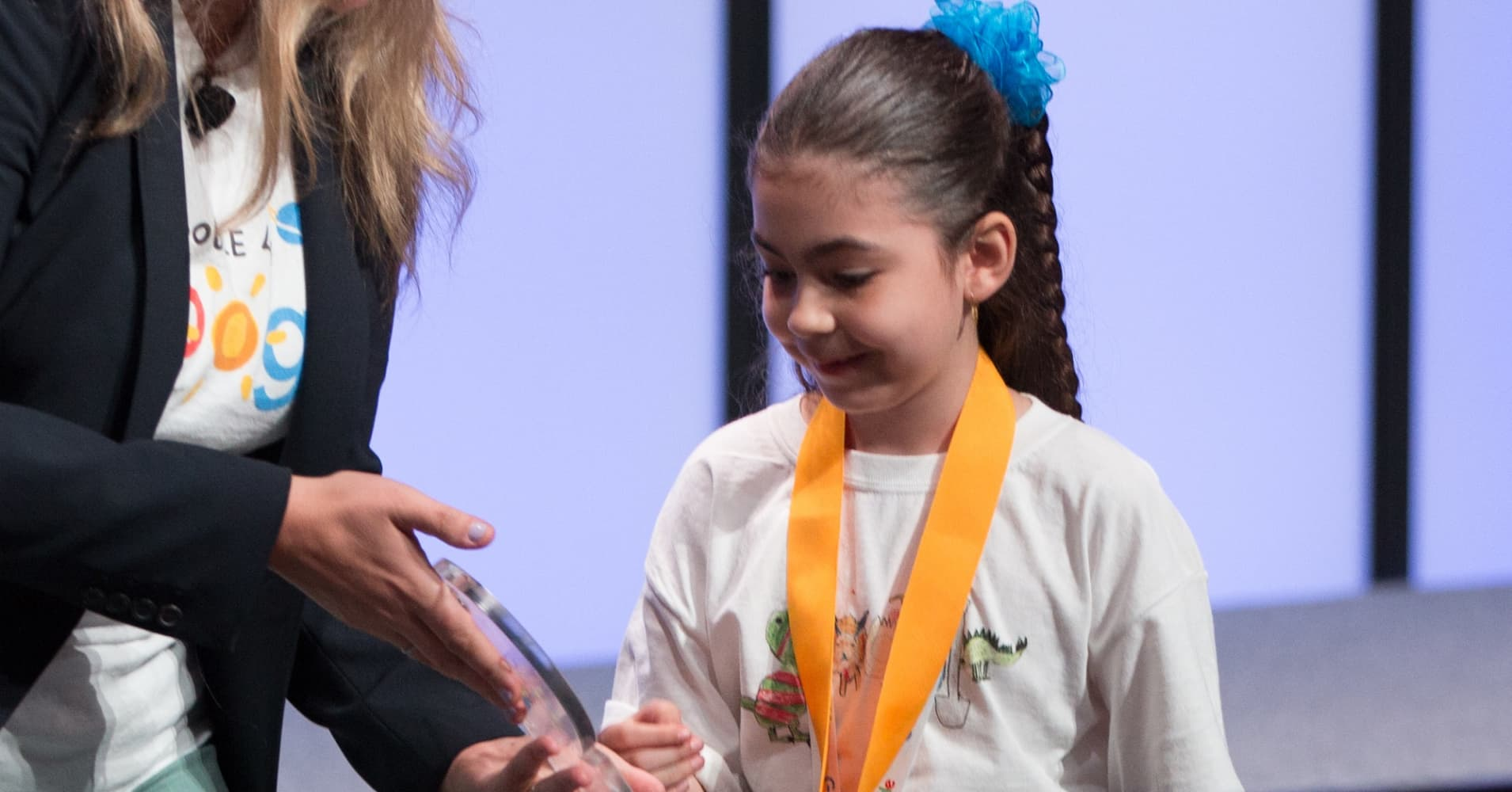Sarah Gomez-Lane, 7, was announced the 2018 national winner of the Doodle 4 Google contest on June 18, 2018.