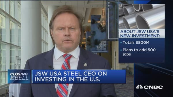 JSW USA CEO: We are in lockstep with the president on trade