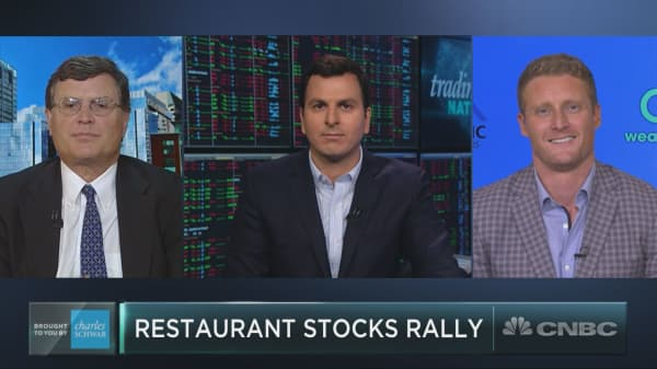 Restaurant stocks are heating up, but they could be poised to cool off