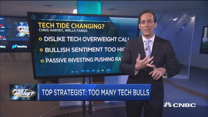 There are too many tech bulls in the market, says Wells Fargo's Harvey
