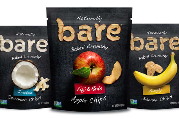 PepsiCo announced it will buy baked fruit and vegetable brand Bare Snacks in May 2018