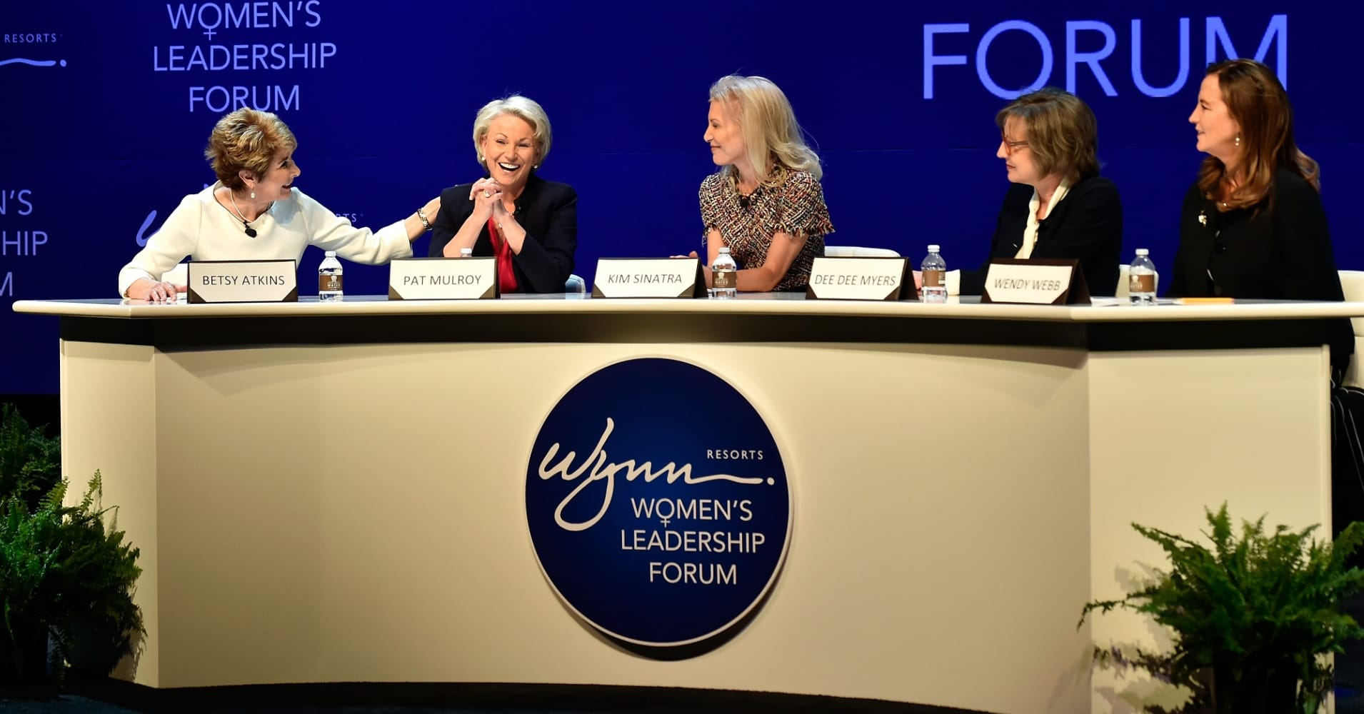 Wynn Resorts appointed Betsy Atkins (left), Dee Dee Myers and Wendy Webb (fourth and fifth from left) to its board earlier this year.