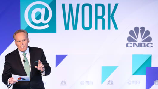 CNBC's Tyler Mathisen speaking at the Talent@Work conference in New York on June 20th, 2018.