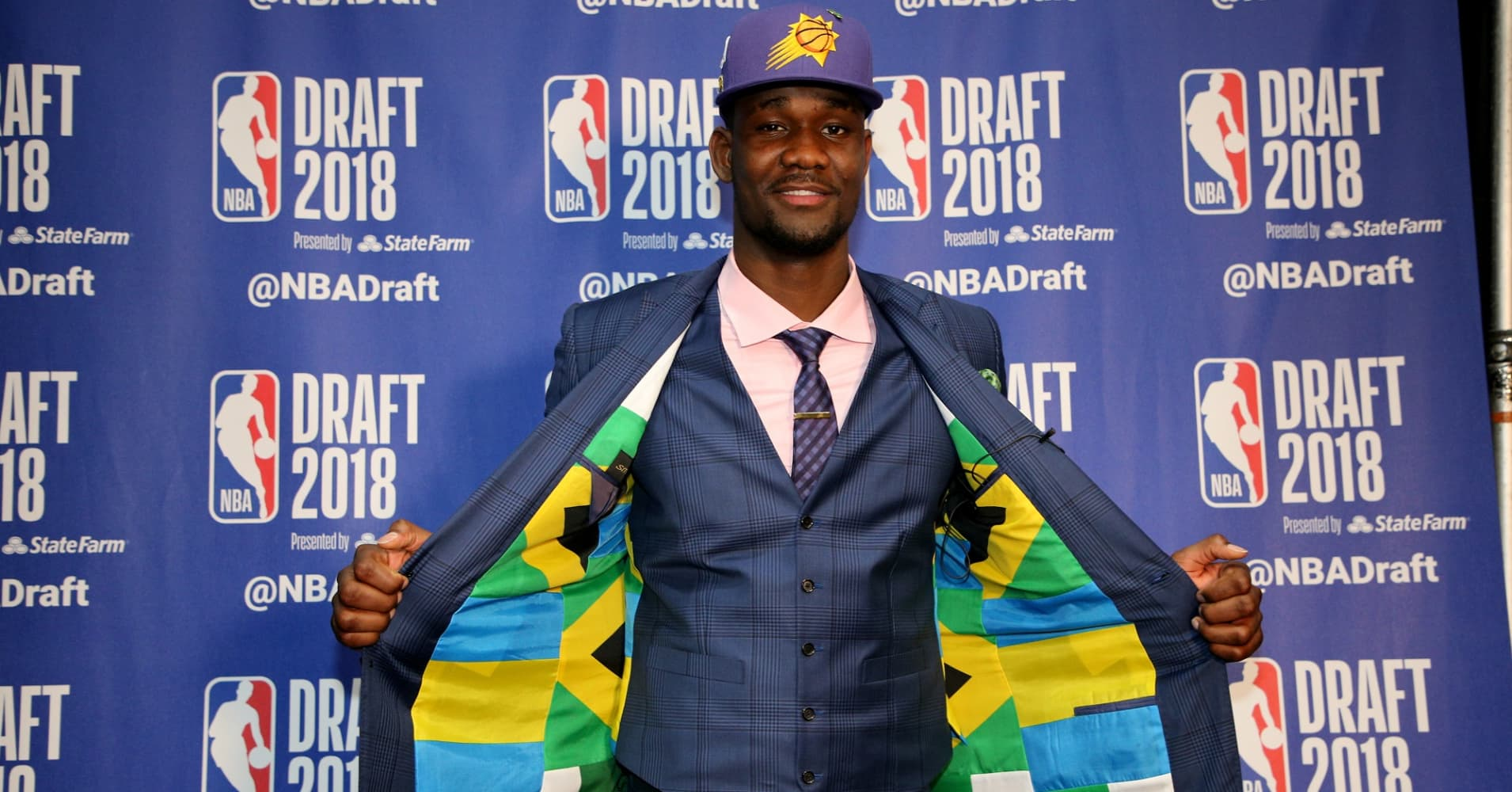 Deandre Ayton at the 2018 NBA Draft in Brooklyn, New York.
