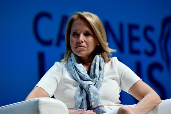 Journalist Katie Couric at the Cannes Lions International Festival of Creativity in France, June 2018