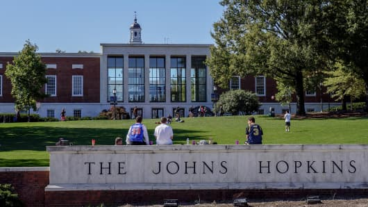 Johns Hopkins University in Baltimore.