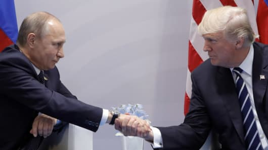 Image result for Putin and Trump