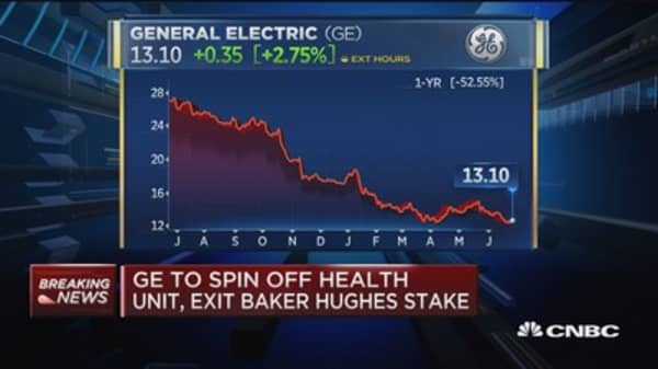 GE to spin off health unit, exit Baker Hughes stake