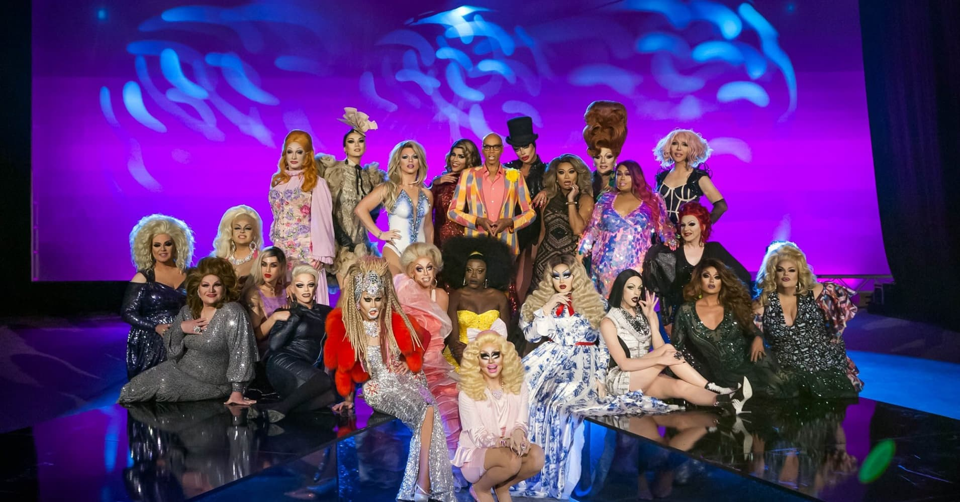 Various contestants from Drag Race, Seasons 1 to 9