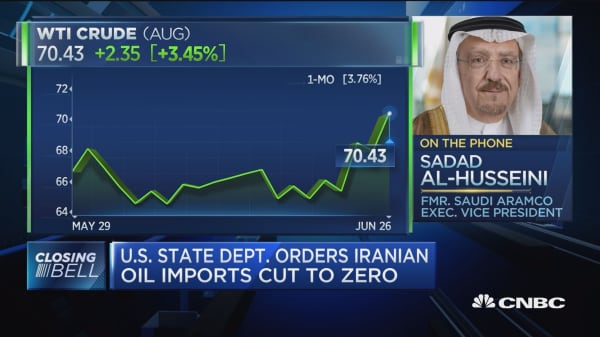 State Department order about Iran's politics, not oil: Former Saudi Aramco exec