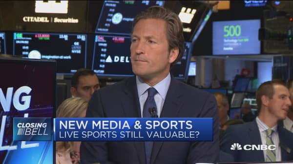 Live sports is still the holy grail of media, says expert