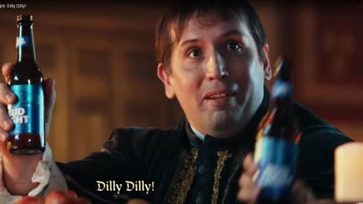 A still image from a Bud Light: Dilly! Dilly! ad