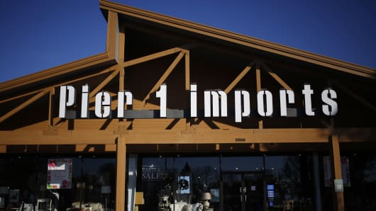 A Pier 1 Imports retail store stands in Louisville, Kentucky.