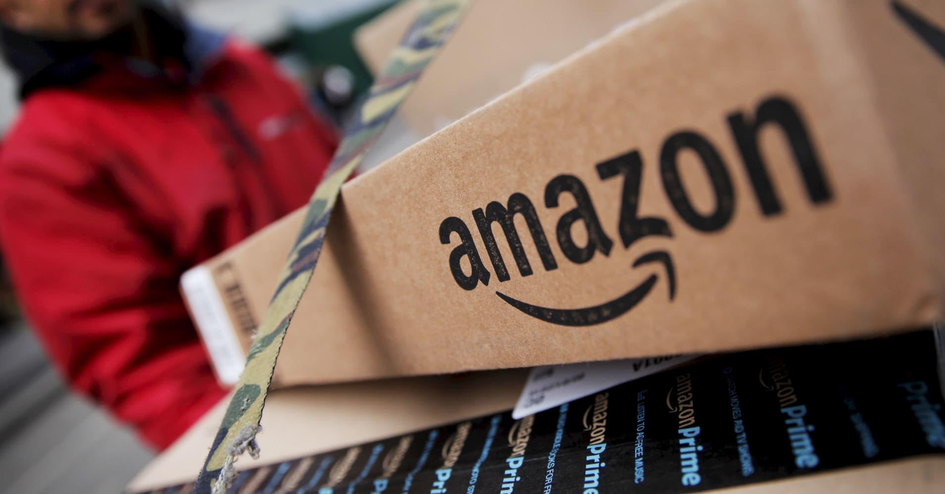 Amazon shares slide despite record Prime Day results