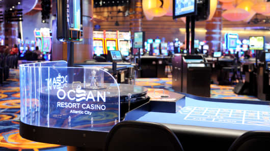 A view of the William Hill Sports Book Opening at Ocean Resort Casino on June 28, 2018 in Atlantic City, New Jersey.