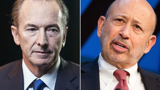 James Gorman of Morgan Stanley and Lloyd Blankfein of Goldman Sachs