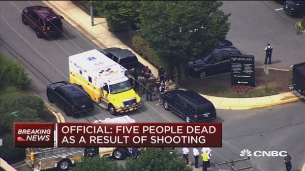 Official: Five people dead in Maryland newsroom shooting