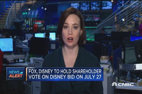 Fox, Disney to hold shareholder vote on Disney bid on July 27