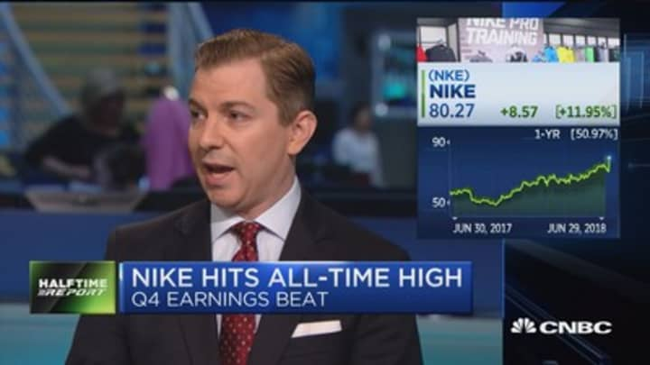 a8ebe997702f Nike hits all-time high on Q4 earnings beat