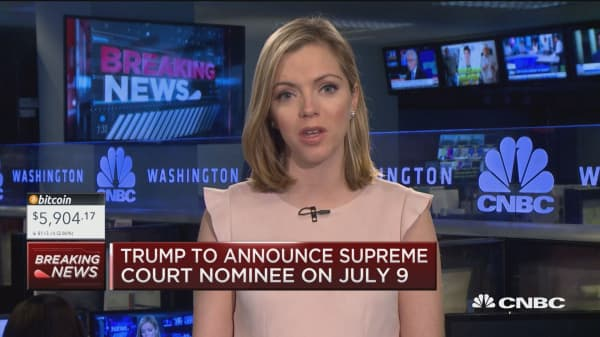 Trump to announce Supreme Court decision July 9th