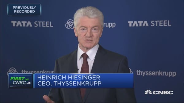 Thyssenkrupp CEO: JV deal with Tata driven by strong industrial logic