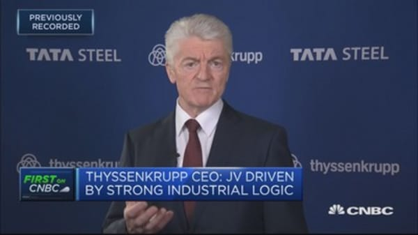 Thyssenkrupp CEO: Steel oversupply makes it difficult to realize profits