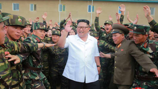North Korea leader Kim Jong Un inspects Unit 1524 of the Korean People's Army (KPA) in this undated photo released by North Korea's Korean Central News Agency (KCNA) June 30, 2018.