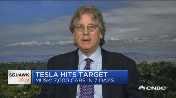 'If Tesla can combine real manufacturing with the brand I bet they will sustain value for a while' Roger McNamee